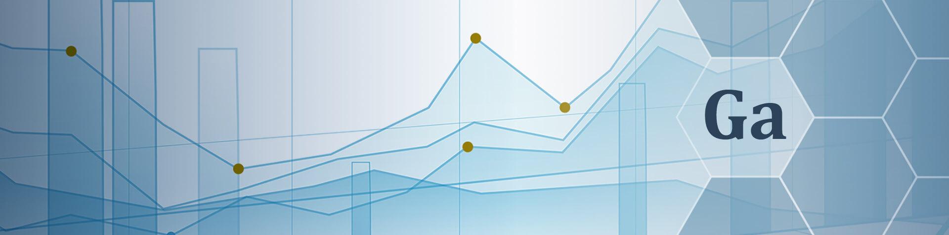 Blaue Graphen, die Kursbewegungen symbolisieren und das Elemente Symbol für Germanium sind zu sehen.